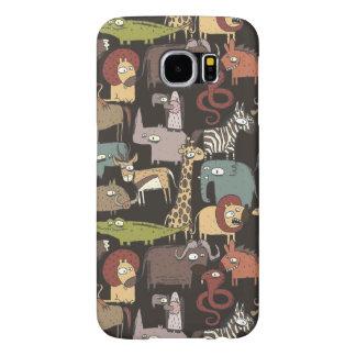 African Animals Pattern Samsung Galaxy S6 Cases
