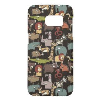 African Animals Pattern Samsung Galaxy S7 Case