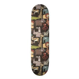 African Animals Pattern Skateboard Deck