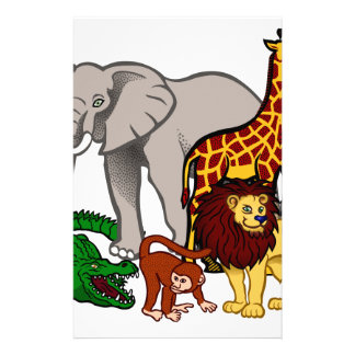 African Animals Stationery