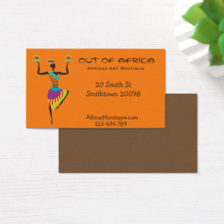 African art boutique shop African fashion Business Card
