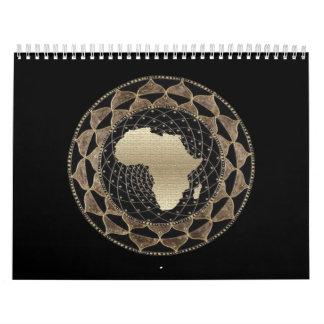 African Art Gallery Wall Calendar