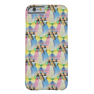 African Art Spring pink green yellow blue Barely There iPhone 6 Case
