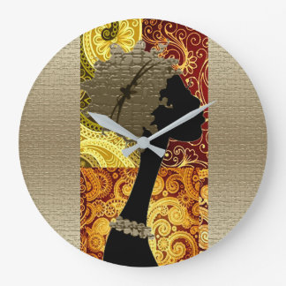 African  Autumn Large Clock
