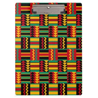 African Basket Weave Pride Red Yellow Green Black Clipboard