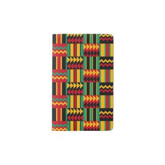 African Basket Weave Pride Red Yellow Green Black Pocket Moleskine Notebook