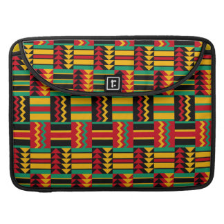 African Basket Weave Pride Red Yellow Green Black Sleeve For MacBooks