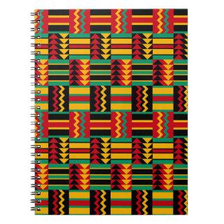 African Basket Weave Pride Red Yellow Green Black Spiral Notebook