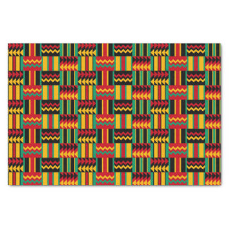 African Basket Weave Pride Red Yellow Green Black Tissue Paper