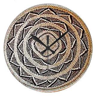 African Basket Weave Wall Clock