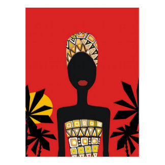 African beauty postcard