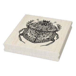 African Beetle Zendoodle Rubber Stamp
