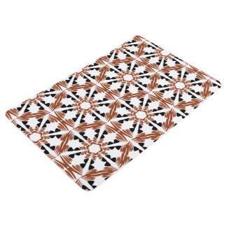 African Boho Basket Print Floor Mat