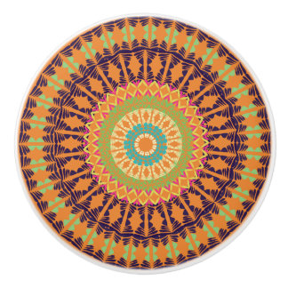 African Boho Collection - August Sunset Ceramic Knob