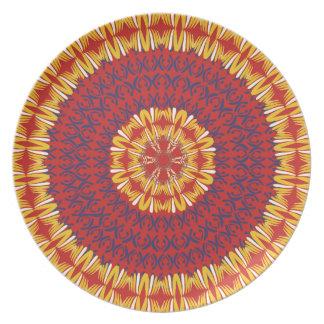 African Boho Collection - Crimson Plains Dinner Plate