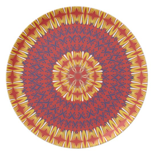 African Boho Collection - Crimson Plains Plate