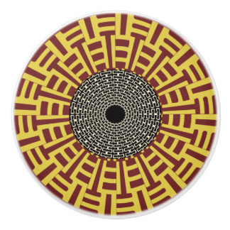 African Boho Collection - Golden Gate Ceramic Knob
