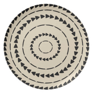 African Boho Collection - Mud Cloth Plate