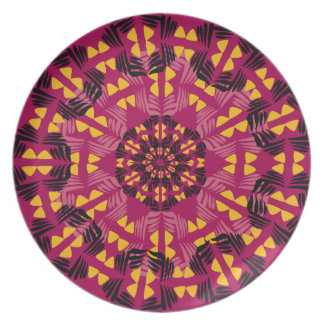 African Boho Collection - Pink Sunset Plate