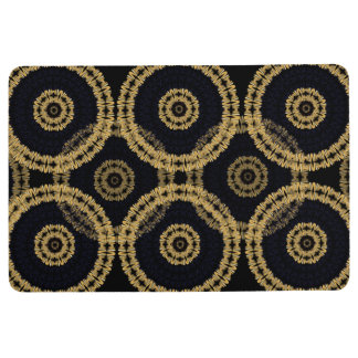 African Boho Gold Floor Mat