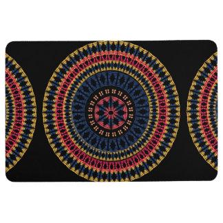 African Boho Midnight Mandala Floor Mat