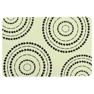 African Boho - Triangles Floor Mat