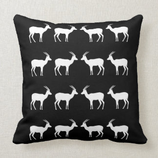 African Buck Design Throw Pillow