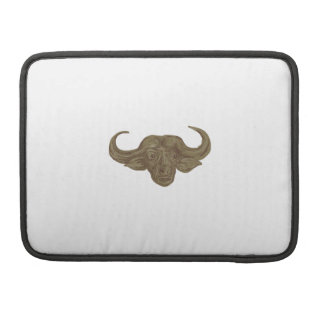 African Buffalo Head Drawing Sleeve For MacBooks