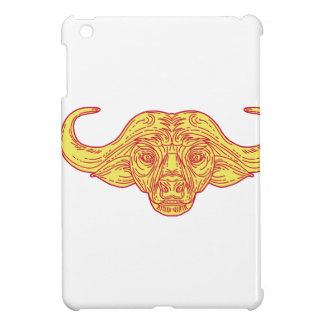 African Buffalo Head Mono Line iPad Mini Case