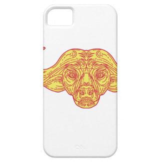 African Buffalo Head Mono Line iPhone 5 Case