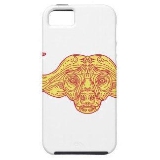 African Buffalo Head Mono Line iPhone 5 Cover