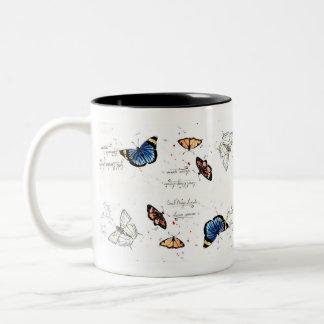 African Butterflies Two-Tone Coffee Mug