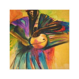 African canvas art (Eyo dancer)