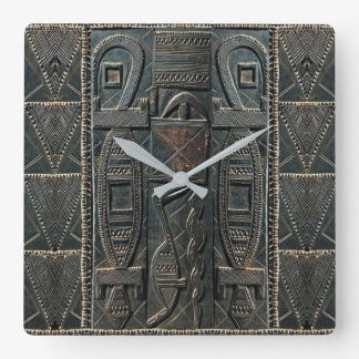 African Carving Clock