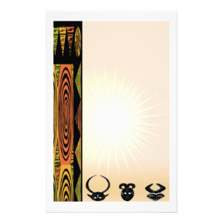 African Ceremonial Masks Stationery