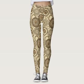 African cheetah skin pattern 3 leggings