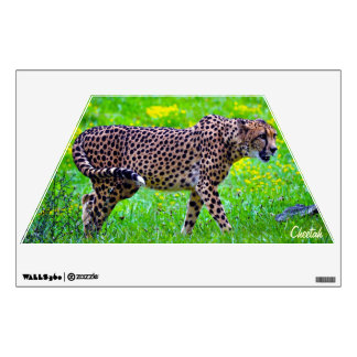 African Cheetah Wildlife Wall Decal