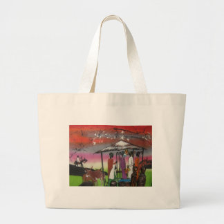 African Christmas Nativity Scene Large Tote Bag