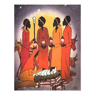 African Christmas Nativity Scene Letterhead