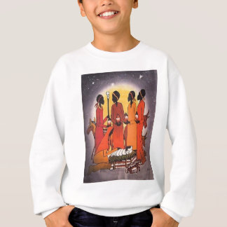 African Christmas Nativity Scene Sweatshirt