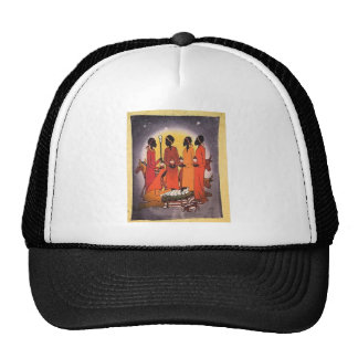 African Christmas Nativity Scene Trucker Hat