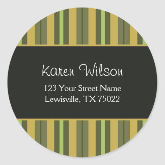 African Citrus and Black Striped Address Labels