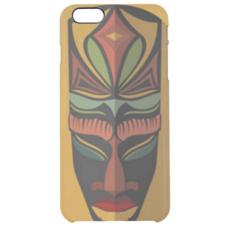 African Colorful Mask Clear iPhone 6 Plus Case