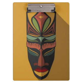 African Colorful Mask Clipboard