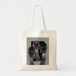 African Concrete Metal Jungle Tote Bag