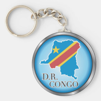 African country buttons basic round button keychain