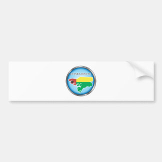 African country buttons bumper sticker