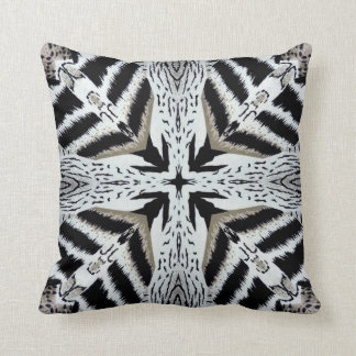 African Cross Animal Print Design Pillow