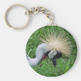 African Crowned Crane Keychain