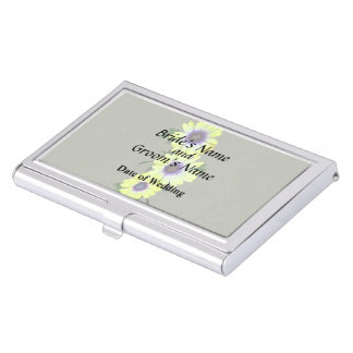 African Daisies Lemon Symphony Wedding Products Business Card Cases